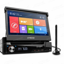 7 Zoll DVD-Autoradio mit integriertem DAB+ Empfänger und Navigation, D713GDAB