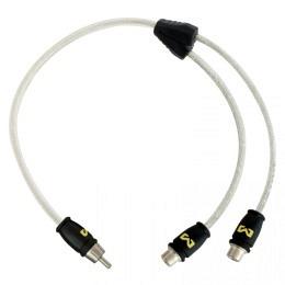 Hochwertiges Video Y-Kabel 30cm, 1 Stecker auf 2 Buchsen, AMPIRE XV30B