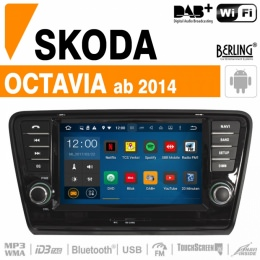 Autoradio Navigation für Skoda, Berling TS-1209T, ANDROID Version