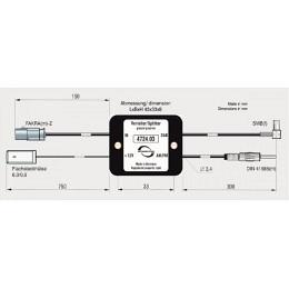 ABB 4724.03 Generiert aus UKW/FM ein DAB+ Signal, Fakra auf ISO/SMB (Passiv)