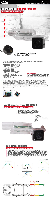 r ckfahrkamera f r vw sony ccd programmierbar 170. Black Bedroom Furniture Sets. Home Design Ideas