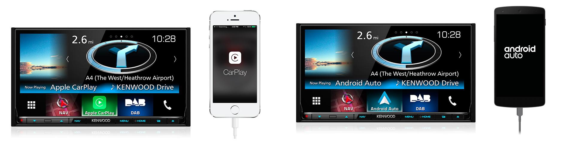 kenwood dmx7017dabs android auto apple carplay bluetooth. Black Bedroom Furniture Sets. Home Design Ideas