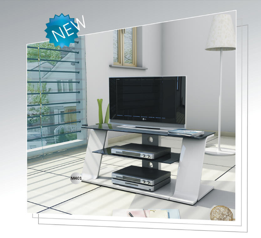 tv m bel weisser klarlack berling m401 tv m bel car gmbh. Black Bedroom Furniture Sets. Home Design Ideas