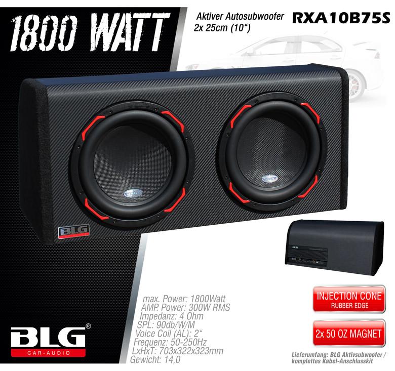 aktiv subwoofer mit 1800 watt 2x10 woofer blg aktiv. Black Bedroom Furniture Sets. Home Design Ideas