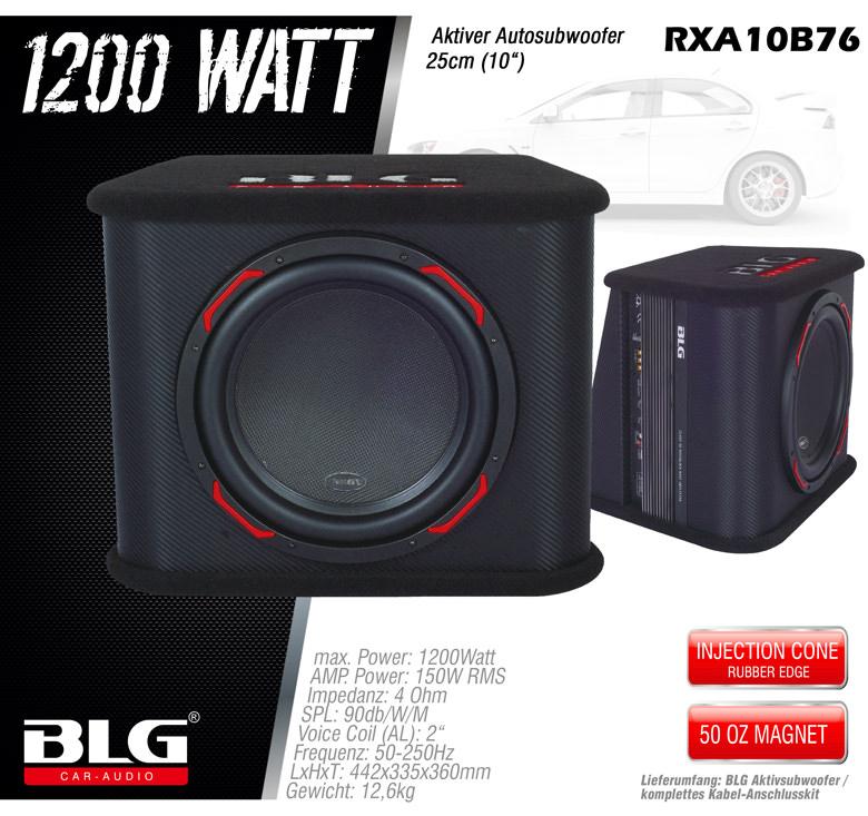 aktiv subwoofer mit 1200 watt und 10 woofer blg aktiv. Black Bedroom Furniture Sets. Home Design Ideas