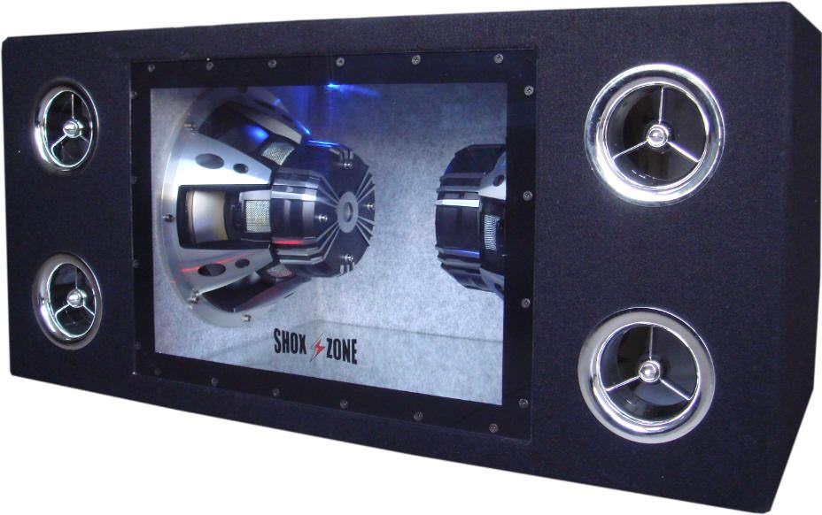 subwoofer 3200 watt 2x10 shox zone sz 10000 passiv. Black Bedroom Furniture Sets. Home Design Ideas