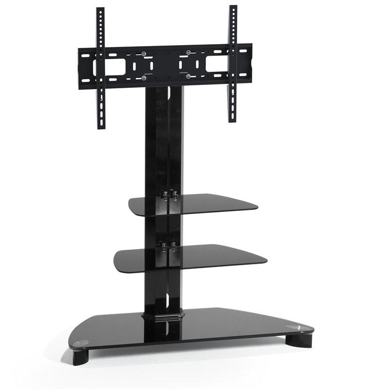 tv m bel mit vesa halterung aus glas und metall berling t1007 tv m bel car gmbh. Black Bedroom Furniture Sets. Home Design Ideas