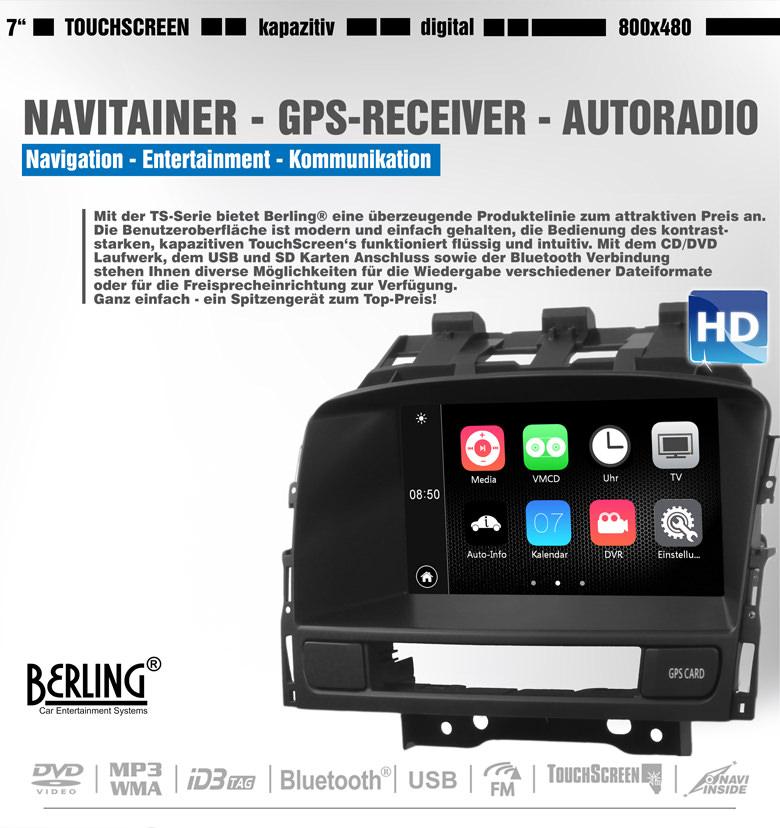autoradio navigation f r opel berling ts 1103 android. Black Bedroom Furniture Sets. Home Design Ideas
