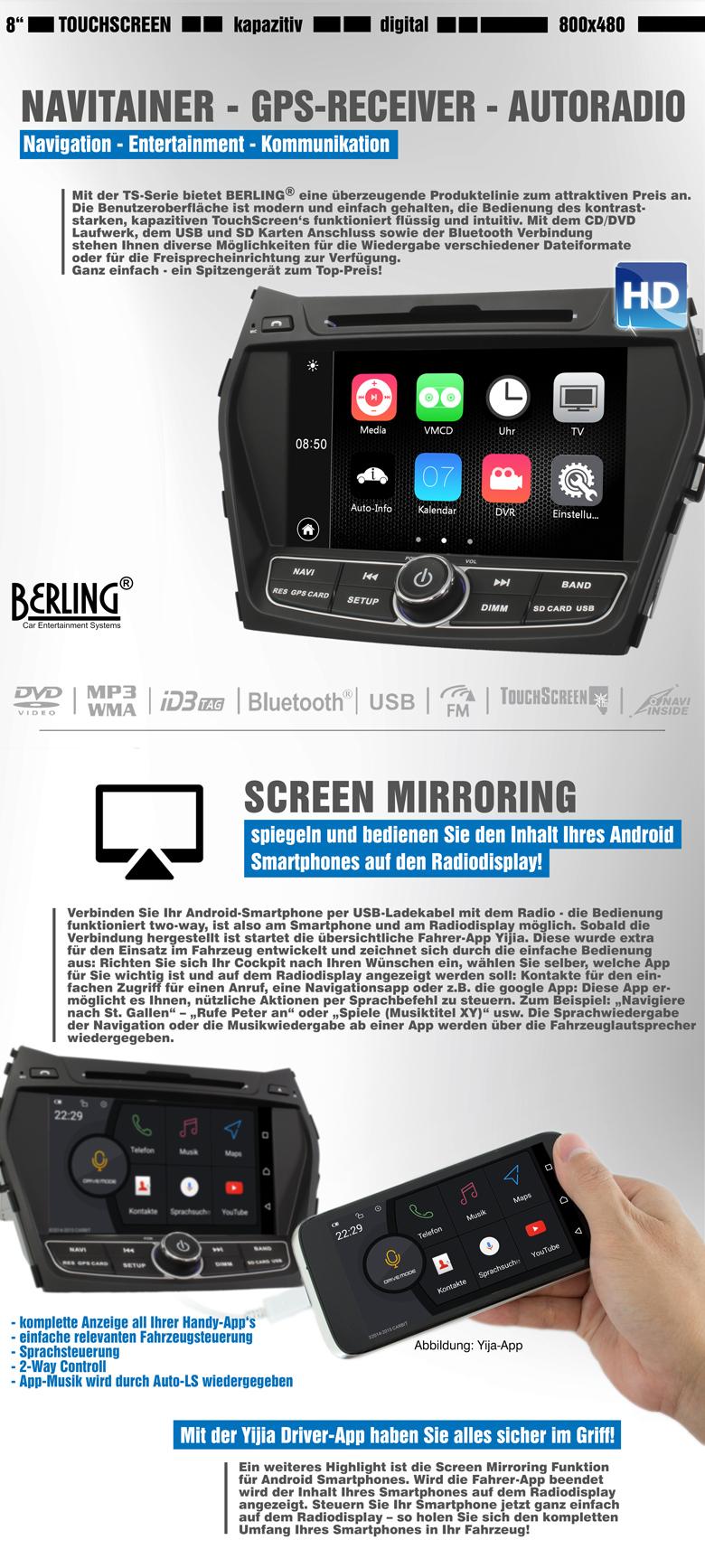 autoradio navigation f r hyundai ix45 ab 2012 berling ts 1920hd 1 ix45 car gmbh. Black Bedroom Furniture Sets. Home Design Ideas
