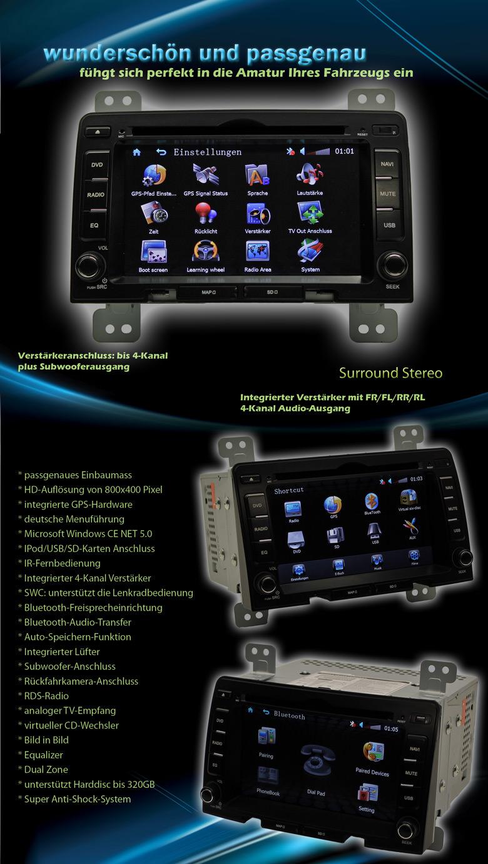 b ware autoradio gps navigation dvd speziell f r. Black Bedroom Furniture Sets. Home Design Ideas