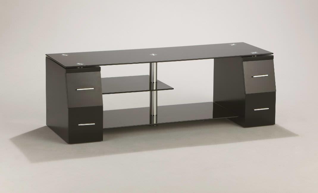 tv m bel mit 4 schubladen schwarzglas berling w02 bs tv m bel car gmbh. Black Bedroom Furniture Sets. Home Design Ideas