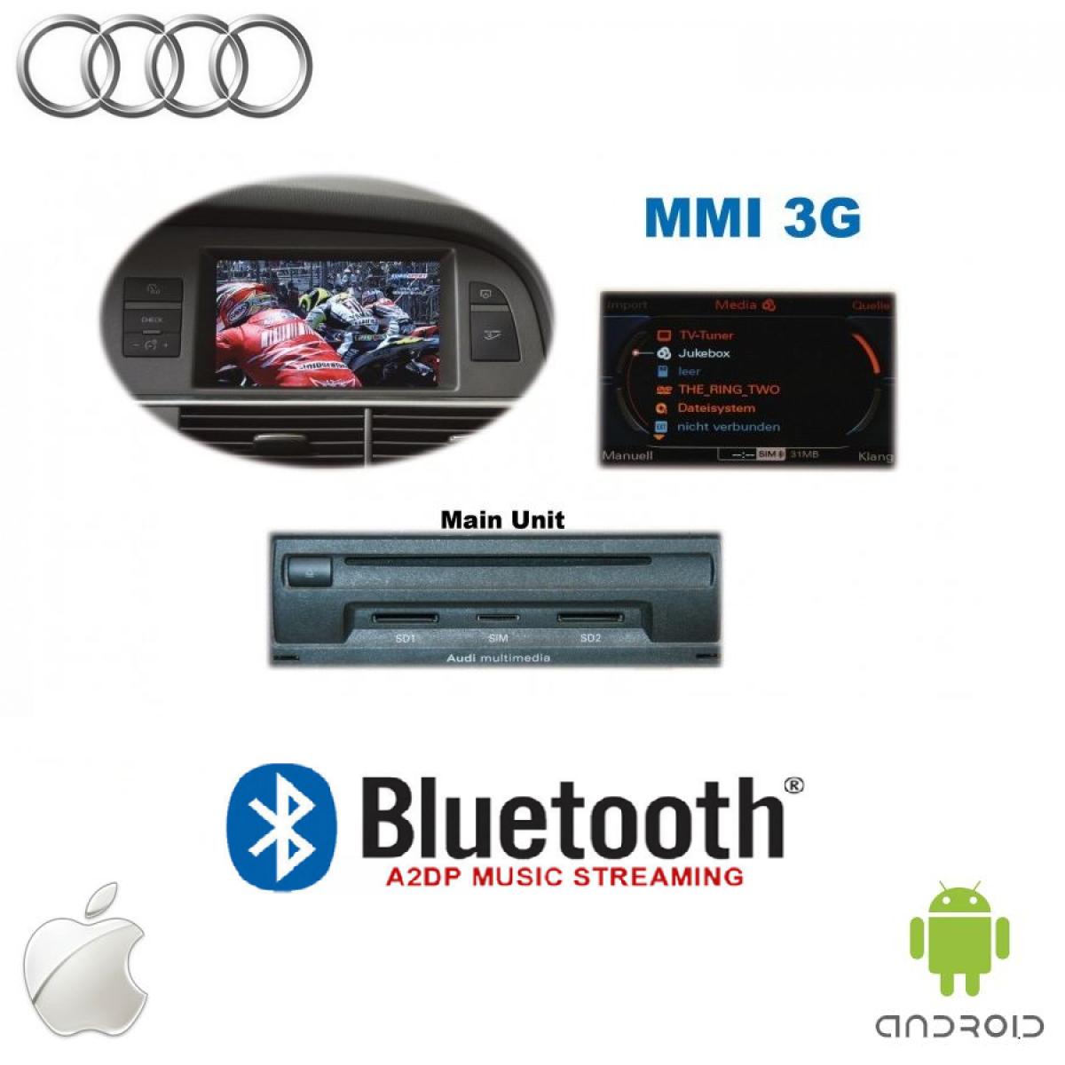 bluetooth adapter zum musik streaming f r audi mit mmi 3g. Black Bedroom Furniture Sets. Home Design Ideas