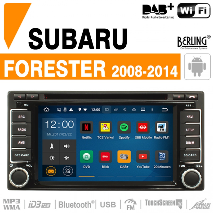 autoradio navigation subaru forester 2008 2014 berling ts 1601sc 2 a android forester car. Black Bedroom Furniture Sets. Home Design Ideas