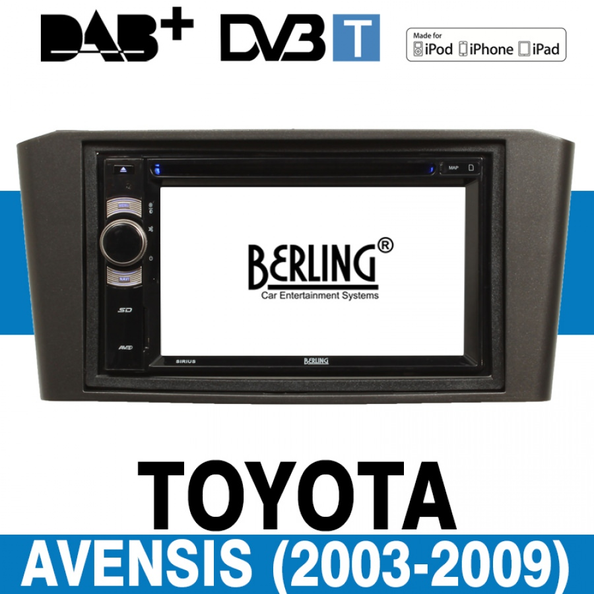 autoradio navigation f r toyota avensis 2003 2009 berling. Black Bedroom Furniture Sets. Home Design Ideas
