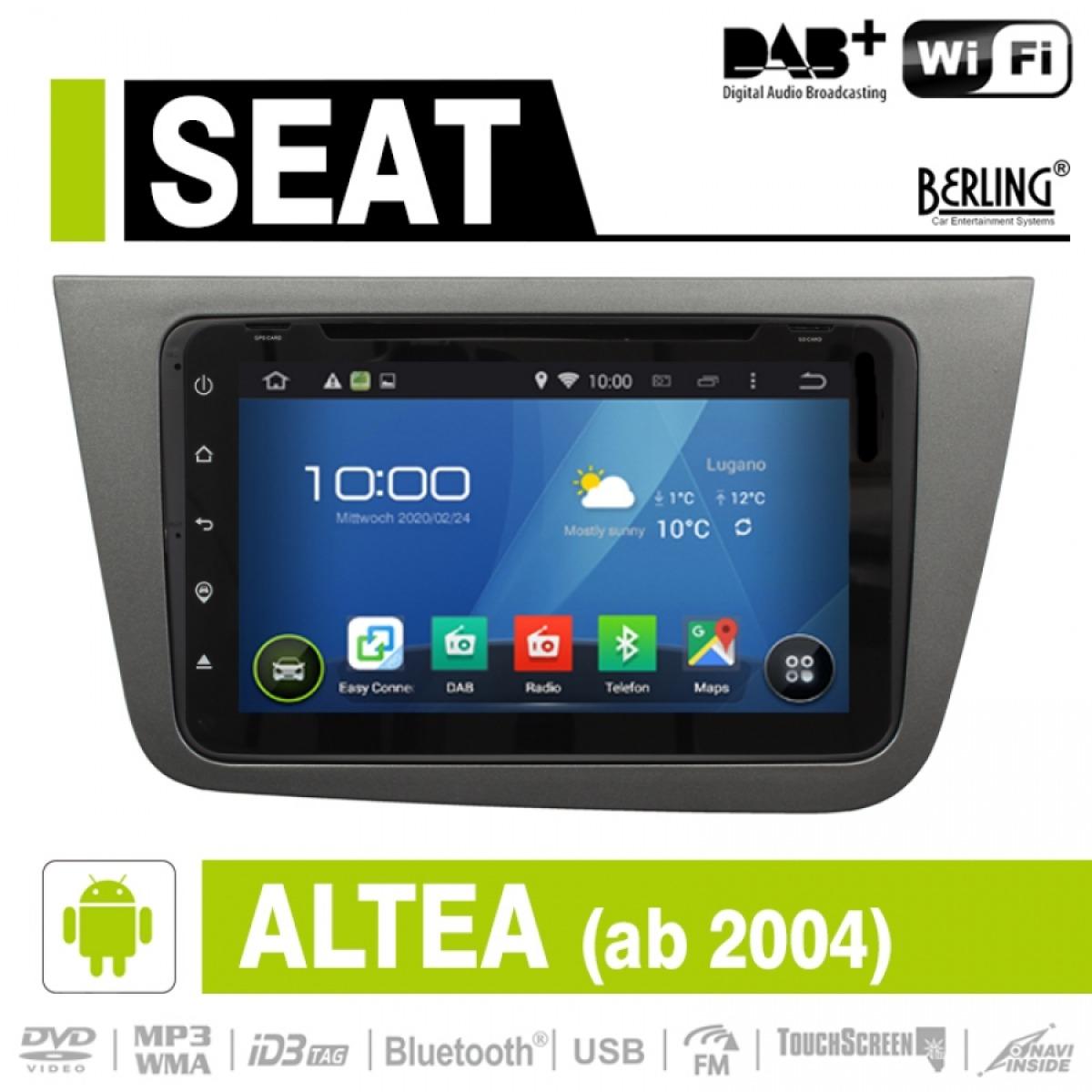 android autoradio f r seat altea ab 2004 dab ready. Black Bedroom Furniture Sets. Home Design Ideas