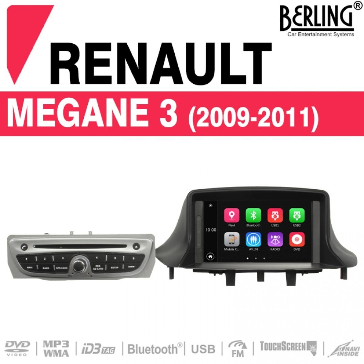 autoradio navigation f r renault megane 3 2009 2011 berling ts 1602s 5 megane car media. Black Bedroom Furniture Sets. Home Design Ideas