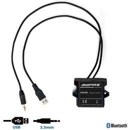 Ampire BTR300 Bluetooth Receiver wasserdicht, ideal für Auto/Motorrad oder Boot