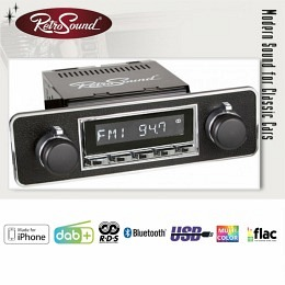 """Retro Radio """"SAN DIEGO"""" Komplett-Set mit DAB+, Bluetooth, A2DP, USB, iPod/iPhone"""