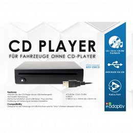 CD-Player Adaptiv ADV-USBCD, für den Anschluss an einer USB-Buchse