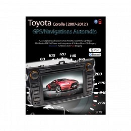 2-DIN Autoradio, GPS/Navigation speziell für Corolla (2007-2012)