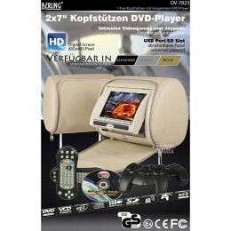 "7"" Berling Kopfstützen mit integriertem DVD-Player, beige, 1 Paar"