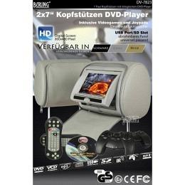"7"" Berling Kopfstützen mit integriertem DVD-Player, grau, 1 Paar"