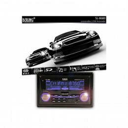 2-DIN Autoradio, RDS, USB/SD-Slot, BERLING SL-8680