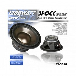subwoofer 1200 watt 25cm shockware ts 5050 chassis. Black Bedroom Furniture Sets. Home Design Ideas