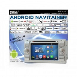 Android Autoradio für Ford C-Max 2005-2011, DAB+ ready, Berling AN-7016_Silber