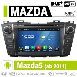Android Autoradio für Mazda 5 ab 2011, DAB+ ready, Berling AN-8005