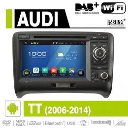 Android Autoradio für Audi TT 2006-2014, DAB+ ready, Berling AN-7039