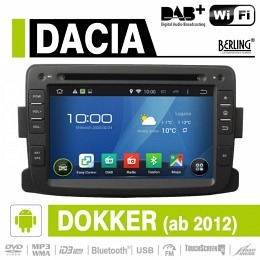 Android Autoradio für Dacia Dokker ab 2012, DAB+ ready, Berling AN-7083