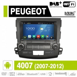 Android Autoradio für Peugeot 4007 (2007 - 2012), DAB+ready, Berling AN-8063