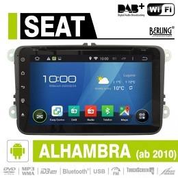 Android Autoradio für Seat Alhambra ab 2010, DAB+ ready, Berling AN-8000
