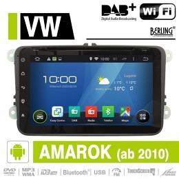 Android Autoradio für VW Amarok ab 2010, DAB+ ready, Berling AN-8000