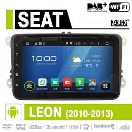 Android Autoradio für Seat Leon 2010 - 2013, DAB+ ready, Berling AN-8000