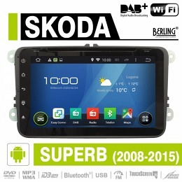 Android Autoradio für Skoda Superb 2008 - 2015, DAB+ ready, Berling AN-8000