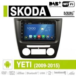 Android Autoradio für Skoda Yeti 2009-2015, DAB+ ready, Berling AN-8000