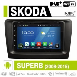 Android Autoradio für Skoda Suberb 2008-2015, DAB+ ready, Berling AN-8000