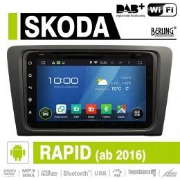 Android Autoradio für Skoda Rapid Spaceback 2012-2015 DAB+ ready Berling AN-8000