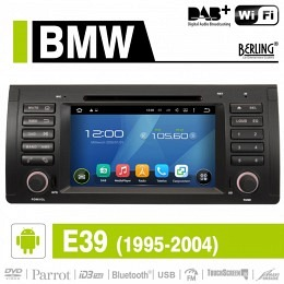 Android Autoradio für BMW E39 5er 1995-2004, DAB+ ready, Berling AN-7502