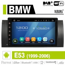 Android Autoradio für BMW E53 X5 1999-2006, DAB+ ready, Berling AN-9505